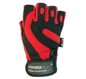 Перчатки MENS 1598-C  красно-черные Power Play
