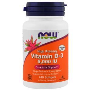 Now Foods Vitamin D-3 5000 IU 240 капс