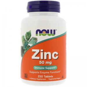 Now Foods Zinc 50мг 250 табл
