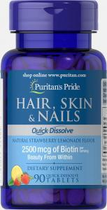 Puritan's Pride Hair Skin Nails (Quick Dissolve) 90 табл