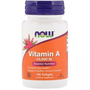 Vitamin A 10.000 IU 100 капс Now Foods
