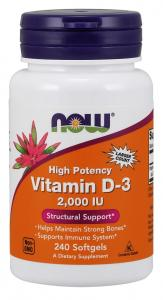 Now Foods Vitamin D-3 2000 IU 240 капс
