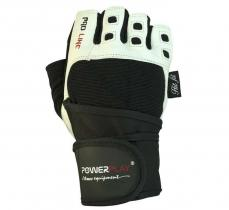 Перчатки MENS 1096 бело-черные Power Play