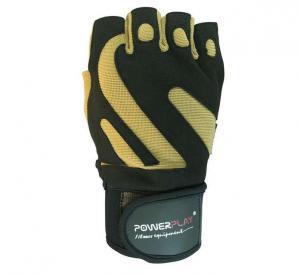 Перчатки MENS 1064-F черно-коричневые Power Play